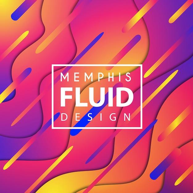 Kleurrijke vector memphis fluid background Gratis Vector