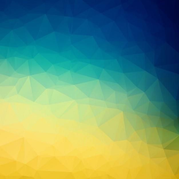 Kleurrijke veelhoek achtergrond Gratis Vector