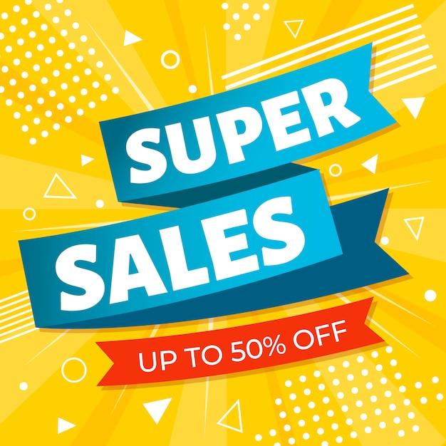 Kleurrijke verkooplabelpromotie Gratis Vector
