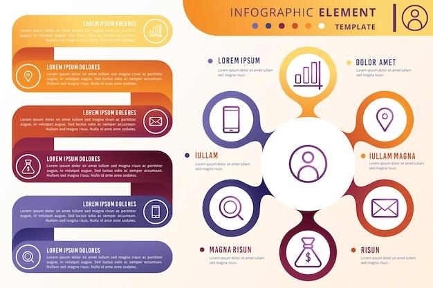 Kleurrijke verloop infographic Gratis Vector