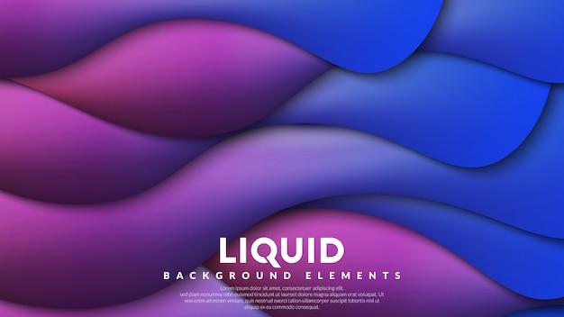 Kleurrijke vloeibare achtergrond Premium Vector