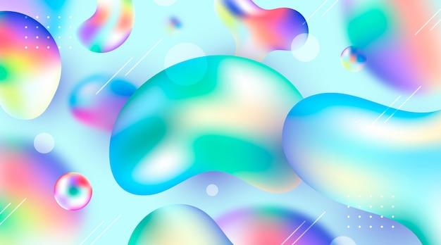 Kleurrijke vloeibare achtergrond Gratis Vector