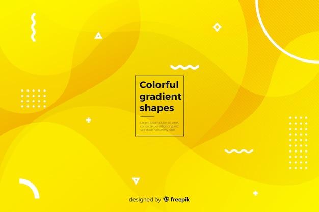 Kleurrijke vloeibare vormen achtergrond Gratis Vector