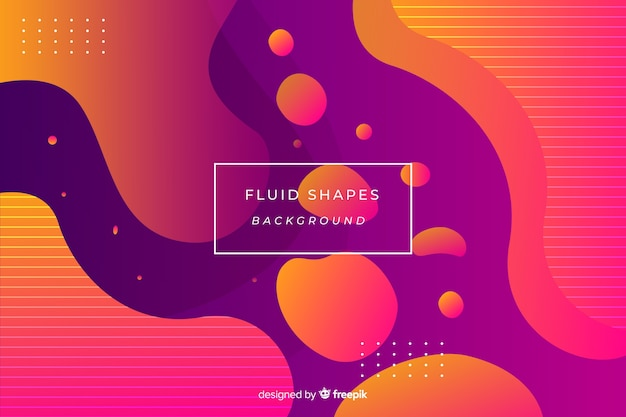 Kleurrijke vloeiende vormen achtergrond Gratis Vector