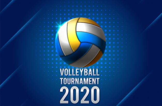 Kleurrijke volleybal bal pictogram Premium Vector