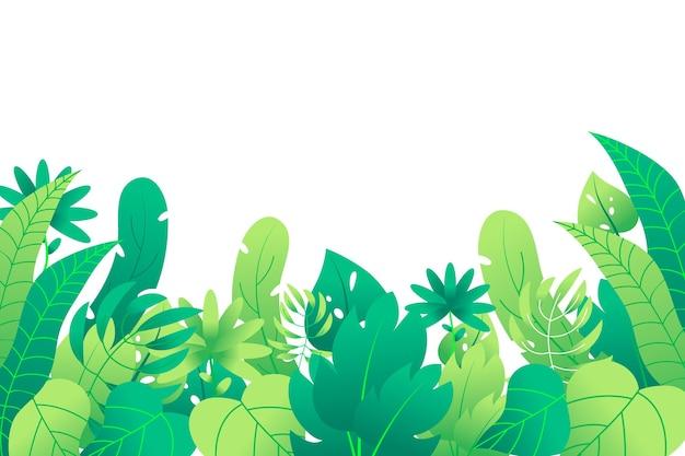 Kleurrijke zomer achtergrond met leafage Gratis Vector