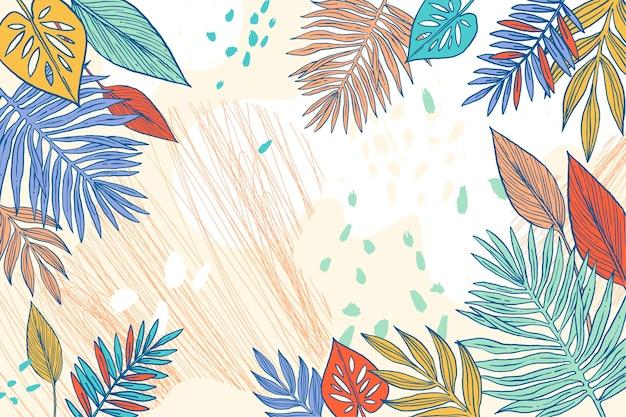 Kleurrijke zomer achtergrond voor zoom Gratis Vector