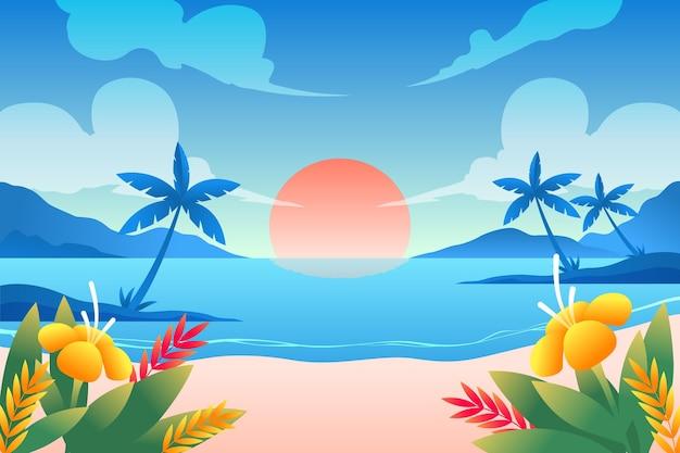 Kleurrijke zomer achtergrond Gratis Vector
