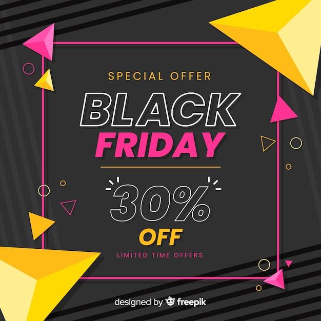 Kleurrijke zwarte vrijdag in plat ontwerp Gratis Vector