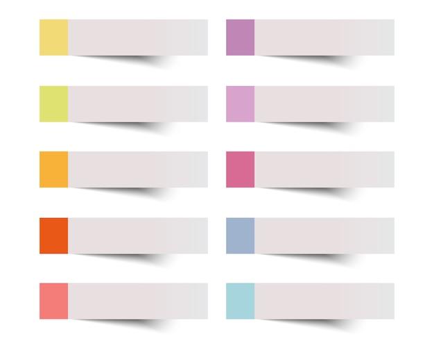 Kleverige nota over witte achtergrond vector illustratie. Premium Vector