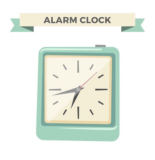 Klok kijken alarm pictogram illustratie Premium Vector