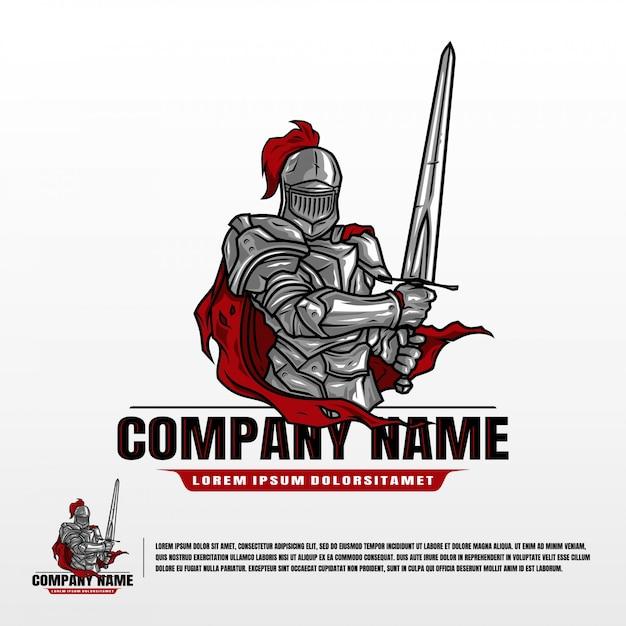 Knight suit-sjabloon Premium Vector