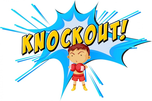 Knock-out punch Gratis Vector