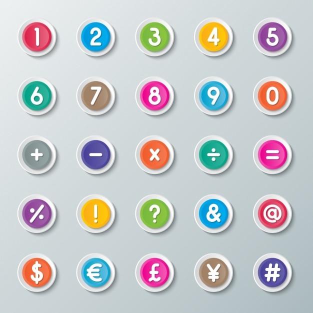 Knopen van de calculator Gratis Vector