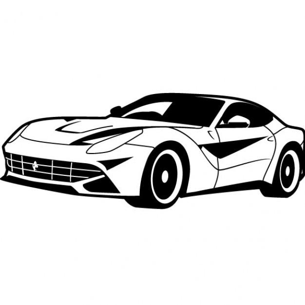 Koele Race Auto Vectorillustratie Vector Gratis Download