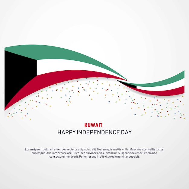 Koeweit happy independence day achtergrond Gratis Vector