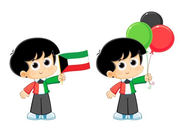 Koeweit nationale dag viering vectorillustratie Premium Vector