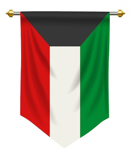 Koeweit wimpel Premium Vector