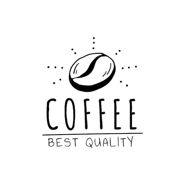 Koffie beste kwaliteit logo vector Gratis Vector
