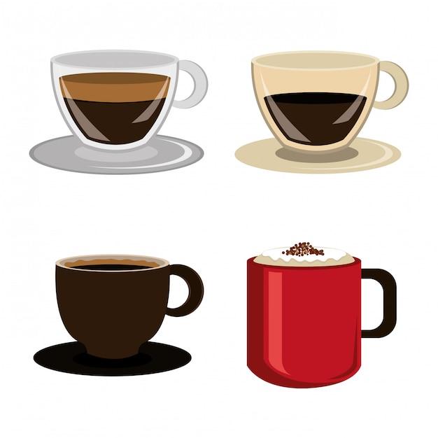 Koffie ontwerp. Gratis Vector