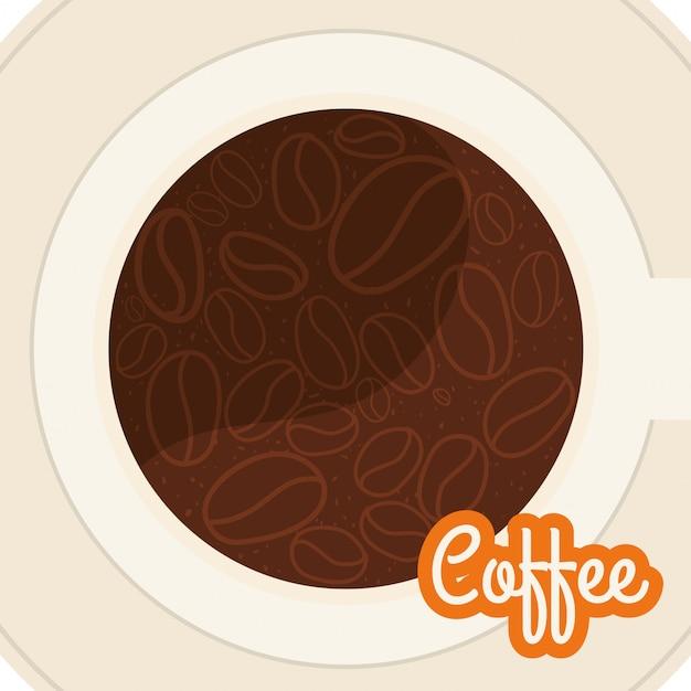 Koffie ontwerp Premium Vector