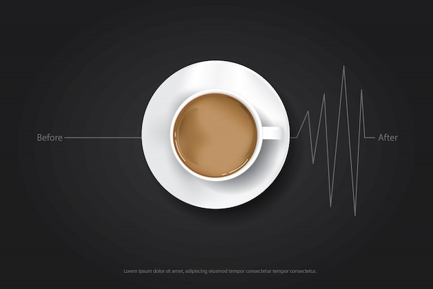Koffie poster advertentie flayers Premium Vector