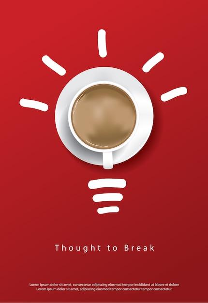 Koffie poster sjabloon Gratis Vector