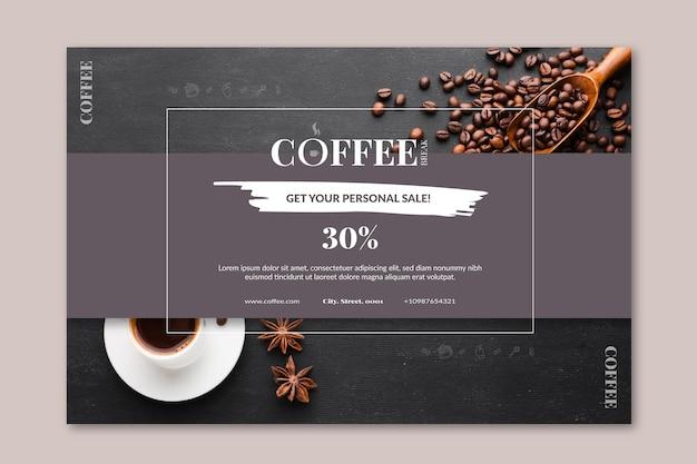 Koffie sjabloon voor spandoek Gratis Vector