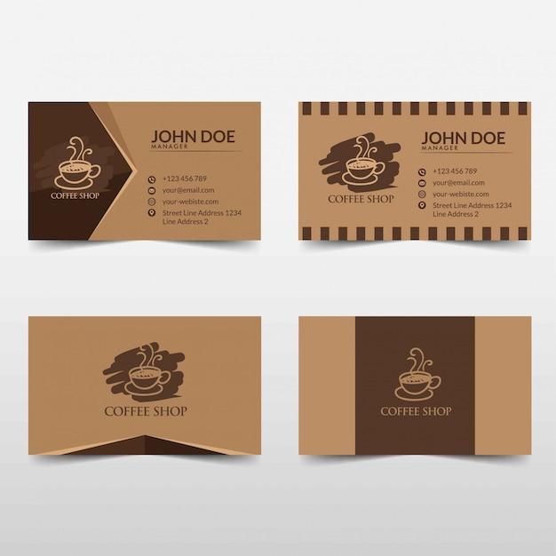 Koffie visitekaartje vector sjabloon illustratie Premium Vector