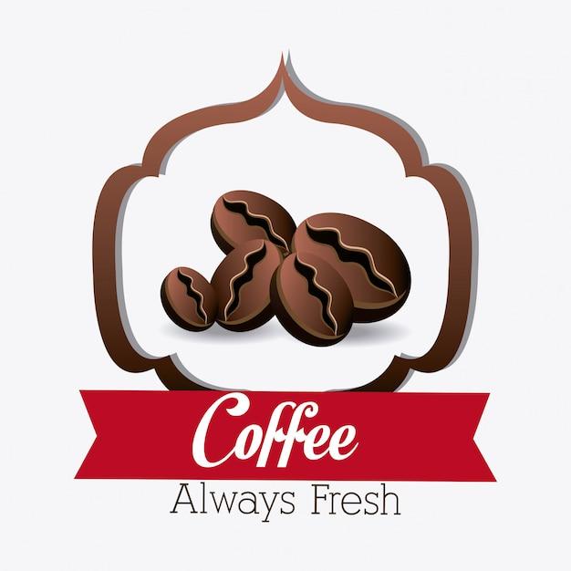 Koffie winkel huis ontwerp. Gratis Vector