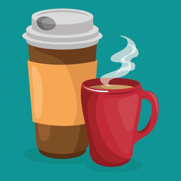 Koffie zetten Gratis Vector