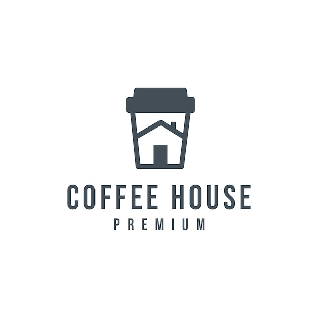 Koffiehuis logo Premium Vector
