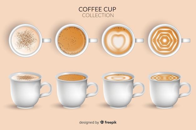 Koffiekopje collectie Gratis Vector