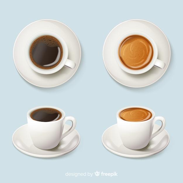 Koffiekopjes Gratis Vector