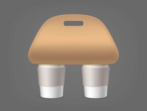 Koffiekopjeshouder Gratis Vector