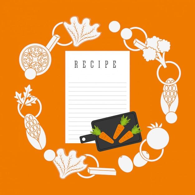 Koken recept Gratis Vector