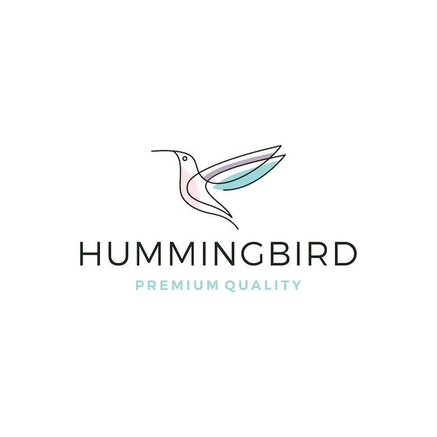 Kolibrie kolibri vogel logo Premium Vector