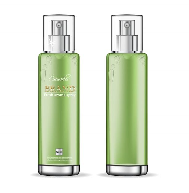 Komkommer cosmetica-collectie Premium Vector