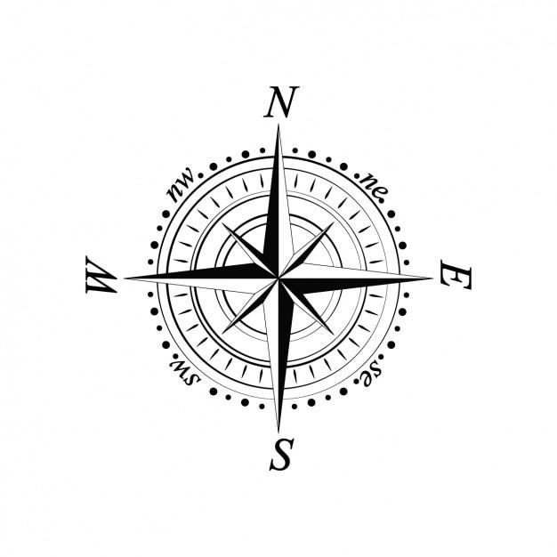 Kompas ontwerp Gratis Vector