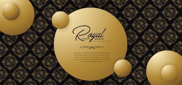 Koninklijke gouden achtergrond Premium Vector