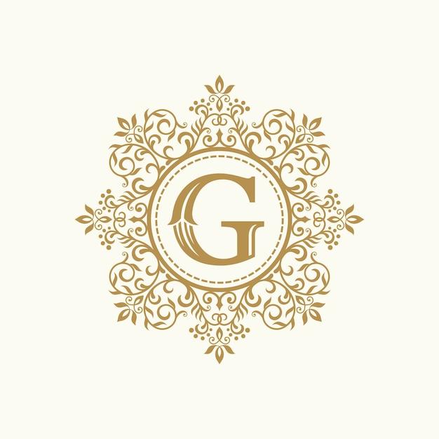 Koninklijke luxe heraldische crest logo ontwerp vector sjabloon Premium Vector