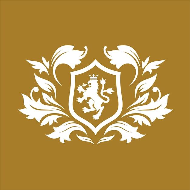 Koninklijke merk en luxe logo ontwerpsjabloon Premium Vector