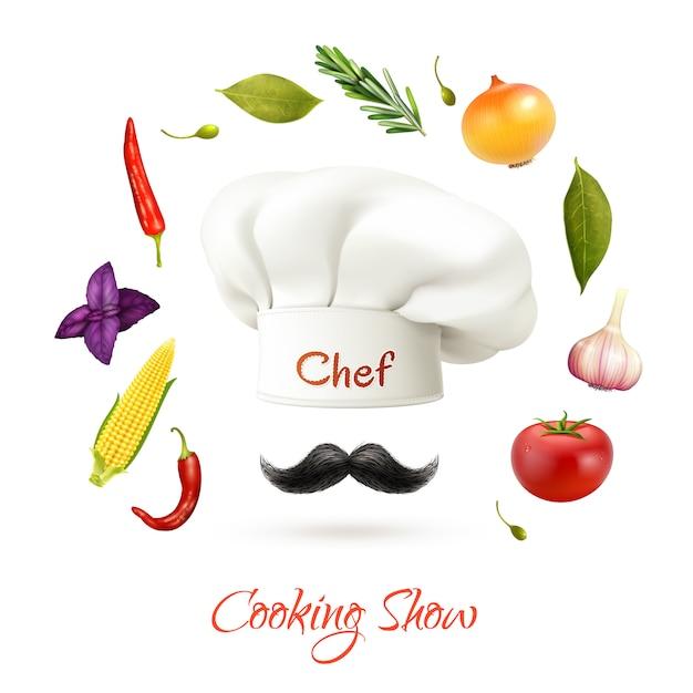 Kookprogramma concept Gratis Vector