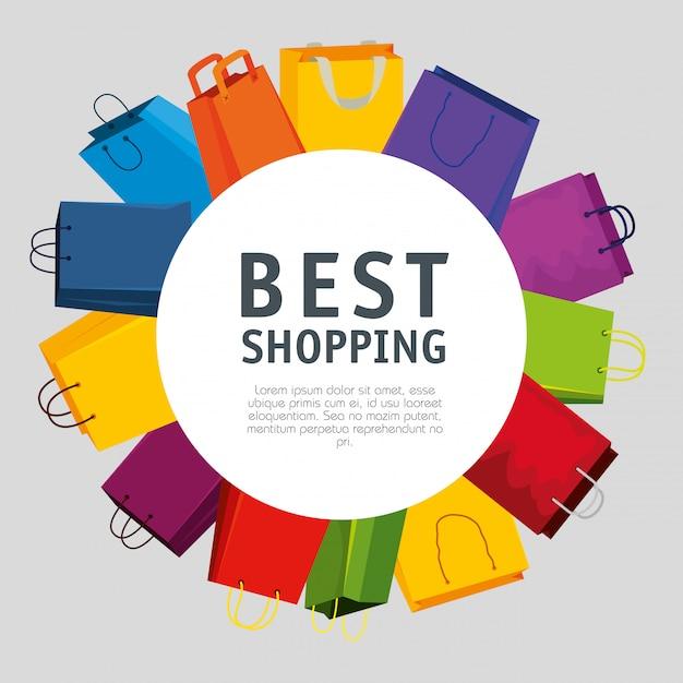 Koop tassen tot super online promo Gratis Vector