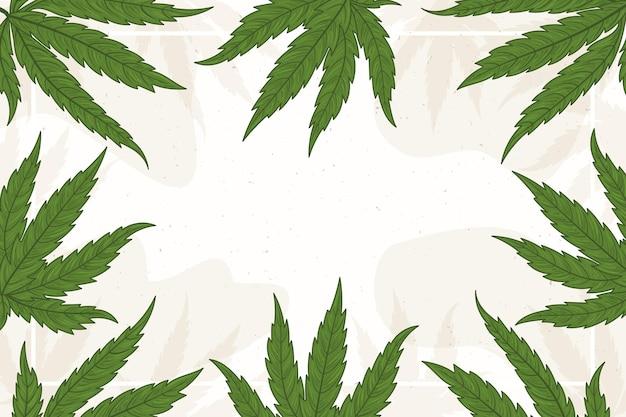 Kopieer ruimte cannabis blad achtergrond Gratis Vector