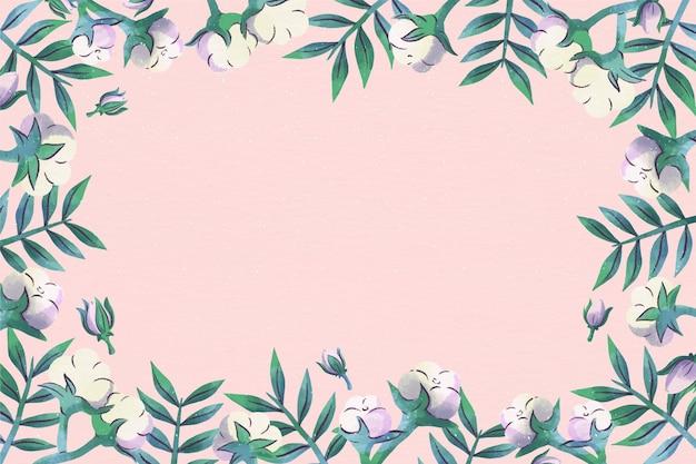 Kopieer ruimte roze bloemen achtergrond Gratis Vector