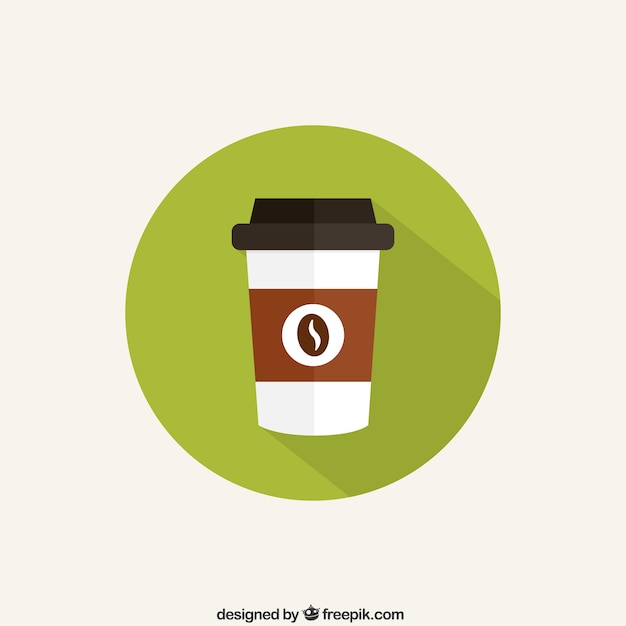Kopje koffie pictogram Gratis Vector