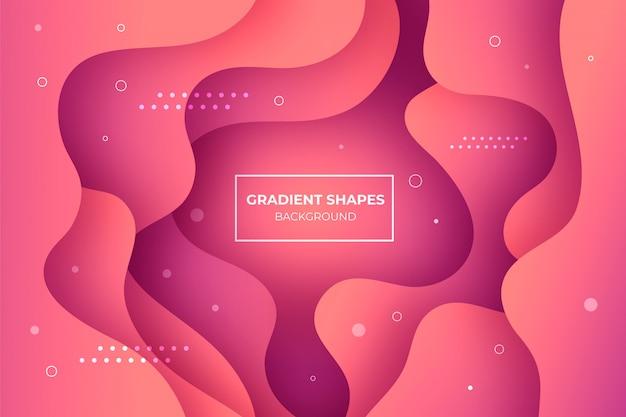 Koraal gradiënt vormen achtergrond Gratis Vector