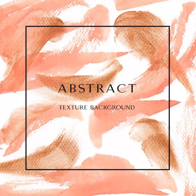 Koraal kleur trendy zee schelp aquarel en goud gouache textuur achtergrond print behang Gratis Vector