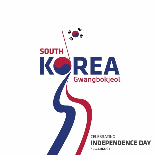 Korea independence day achtergrond ontwerp Gratis Vector